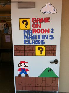 My classroom door probably the thing I\u0027m the most proud of this year & Video Game theme classroom door design. | The Second Grade Project ... Pezcame.Com