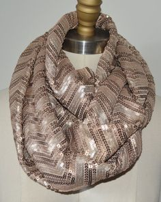 Amazing Shine Sequins 5-in-1 Infinity Scarf  now on SALE by BusrHeartsScarves, $69.99!