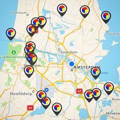 En daar helemaal links op de kaart is een nieuw fort toegevoegd op de Stampions kaart: vanaf morgen kun je al dwalend speuren naar de 19de stempel op #ForteilandIJmuiden! #RonddejarigeStelling #Forteiland #IJmuiden #StellingvanAmsterdam #app #AvontuurlijkForteiland #beacon #iBeacon