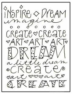 Art du Jour by Martha Lever: Just doodlin'....