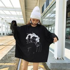 31 Ideas For Dress Black Korean Ulzzang Korean Fashion Trends, Korean Street Fashion, Asian Fashion, Black Korean, Korean Style, Thin Hoodies, Japanese Harajuku, Korean Ulzzang, Boyfriend Style