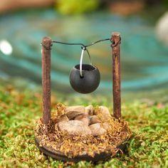 Miniature Fire Pit with Cooking Pot #miniaturefairygardens #DirectGardening