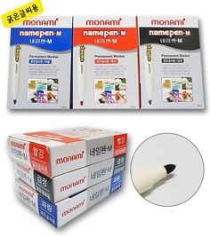 Fine Tip Permanent Marker, Monami M Bold Point Permanent Marker 12Pcs Red #Monami