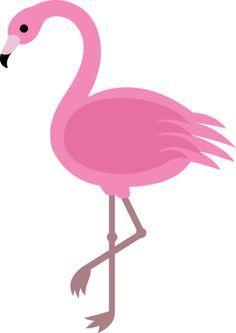 Free clip art of a pretty pink flamingo bird