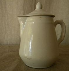 $84.00 French Porcelain Pitcher, White Ironstone