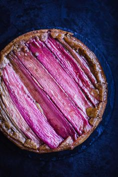 Rhubarb Upside Down Cake. A moist and vibrantly colorful rhubarb upside down cake celebrating the very best of spring and summer rhubarb bounty easily made. Summer Dessert Recipes, Spring Recipes, Brunch Recipes, Cake Recipes, Spring Desserts, Purple Desserts, Rhubarb Upside Down Cake, Rhubarb Cake, Rhubarb Recipes