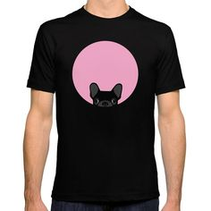 Amazon.com: Society6 Men's French Bulldog Fitted Tee: Anne Was Here: Clothing