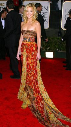 Style File: Kate Hudson's 10 Best Red Carpet Looks Ever - Valentino, 2003 - from InStyle.com