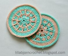 North Sea Mandala Crochet Coaster | AllFreeCrochet.com