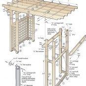 Tuinprieel met schommelbank bouwen.