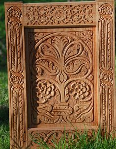 Follansbee carved panel