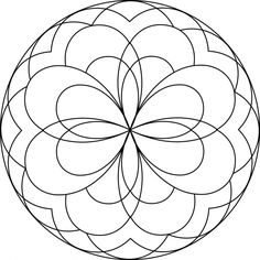 easy mandala coloring pages coloring pages pictures imagixs - Easy Colouring Pages