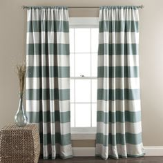 Shop for Lush Decor Stripe Blackout 84-Inch Curtain Panel Pair. Get free delivery at Overstock.com - Your Online Home Decor Outlet Store! Get 5% in rewards with Club O!