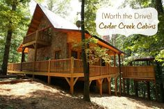 {Worth the Drive} Cedar Creek Cabins in Helen, #Georgia