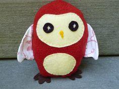 Owl Plush Toy by FranconiaRidgeStudio on Etsy, $13.00