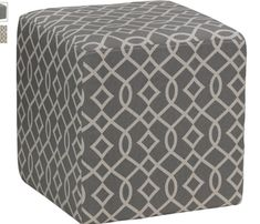 Add comfort and style to your home with the Cortesi Home Braque Tufted Cube Ottoman – Gray . This solid wood ottoman is upholstered in gray linen.