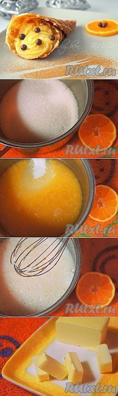 Как приготовить заварной крем. Заварной мандариновый крем | Домашняя выпечка