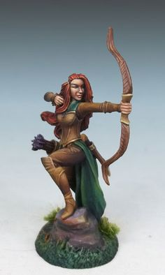 Female Elven Ranger with Bow - Visions in Fantasy - Miniature Lines