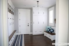 Mudroom packed with organization!  (Sunny Side Up)