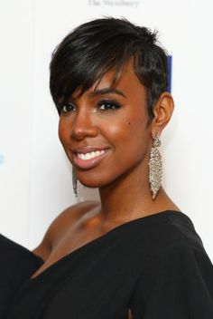Sexy Short Hairstyles for Black Women: Kelly Rowland: Subtle Hints of Color
