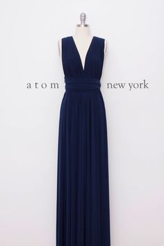 Navy Blue Floor Length Ball Gown Long Maxi Infinity Dress Convertible Formal Multiway Wrap Dress Bridesmaid Dress Evening Dress by AtomAttire on Etsy https://www.etsy.com/listing/218101088/navy-blue-floor-length-ball-gown-long