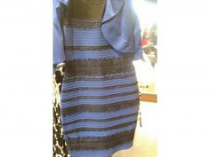 The dress is blue. Here's why