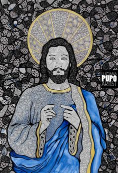 Jesus Cristo por Luciana Pupo - Instagram @lucianapupoart