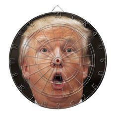 Anti President Donald Trump Dartboard - tap/click to get yours right now!  #anti #donald #dump #trump #usa Custom Dart Board, Anti Hillary, Political Art, Presidential Election, Darts, Sports Equipment, Small Gifts, Gifts For Dad, American Flag