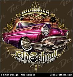 Old school lowrider illustration. Chicano Drawings, Chicano Art, Graffiti, Cholo Art, Lowrider Art, Neue Tattoos, Hippie Art, Airbrush Art, Automotive Art