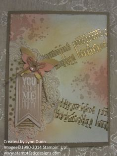 Gold Embossing + Gold Washi Tape + Gold Vellum = A Beautiful Creation!