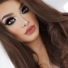 Good night Lashes - @vegas_nay @eylureofficial Grand Glamor  Eyeshadow - @makeupgeekcosmetics Foiled eyeshadow in Houdini (under eye). @maccosmetics eyeshadow in Nylon (inner corner). Lips - @hudabeauty @shophudabeauty Lip Contour in Bombshell.  by jessicarose_makeup