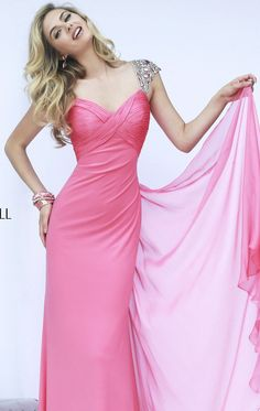 Pinky prom dress