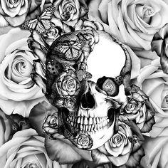 Ladybug Rose skull.