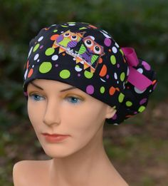 Womens Perfect Fit Ponytail Surgical Scrub Hat by thehatcottage