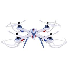 Floureon Yizhan Tarantula X6 2.4G 4CH 6-Axis Gyro Speed Adjustment Switch Strong Power LED Lights CF Mode Automatic Return RTF USB Charging RC Quadcopter,Tarantula X6 Blue >>> Details can be found by clicking on the image.