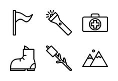 'Camping and Scout - Outline' by Haseba Studio Adventure Symbol, Nature Adventure, Camping Icons, Backpacking Tent, Summer Design, Outline, Tourism, Scout Camping, Map