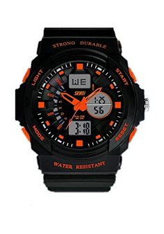 DAYAN Herren Damen Multifunktions Coole S-Schock Sport-Uhr-LED Analog Digital Wasserdicht Alarm - Orange - http://kameras-kaufen.de/dayan/dayan-maenner-frauen-multifunktions-sport-coole-12