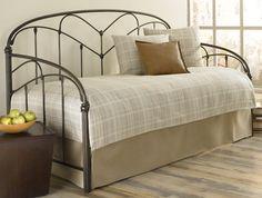 Fashion Bed Pomona Traditional Iron Daybed with Hazelnut Finish $399.00