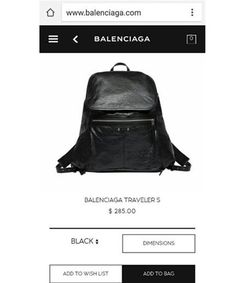"""UPDATE: We received the below official statement from Balenciaga. """"Due to an issue with Balenciaga.com for orders placed within the United States, signature Balenciaga products were made available for a limited time with incorrectly listed prices...."""