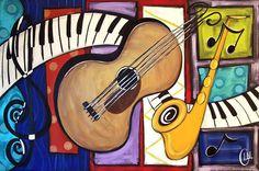 Musical art contemporary modern art piece by LisaMGardinerPbj, $25.00