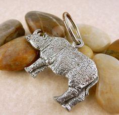 Rhino, Rhinoceros Pewter double sided Christmas Ornament