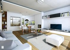 Podłoga + kafle pod telewizorem + szafki