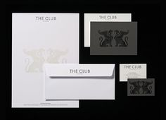 Stationery for The Club designed by Pentagram