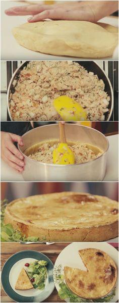 Torta de Frango Mais Fácil do Mundo ( amo essa receita, faço sempre e todo mundo em casa ama ) #torta #tortadefrango