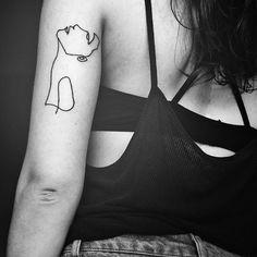 She bought 'Moment' as a tattoo design!@aleksandramoroz Thanks for the picture Aleksandra it looks amazing! #oneline #continuousline #drawing #portrait #singleline #tattoo