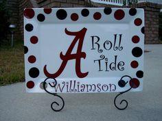 Alabama Roll Tide Platter. $25.00, via Etsy.