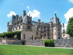 The back side of the Biltmore Estate in Asheville, NC