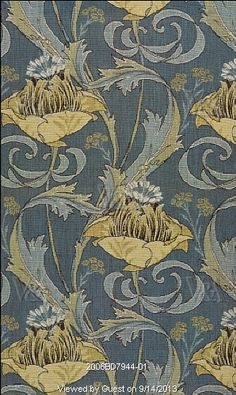 Meuse furnishing fabric, by Harry Napper for Liberty's. Woven jacquard. France, c.1902.