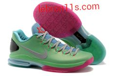 Lebron11s.com Wholesale Kevin Durant Sneakers V Low KD 5 Elite Mint Green Blue Pink Pure Platinum 585385 012 Discount To $62.49