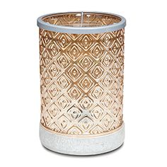 This heirloom-like piece offers a true vintage look with etched glass, subtle embellishments and a warm, amber tint. Add a modern concrete-style base Jdickison.scentsy.us
